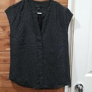 J crew polka dot blouse size 2